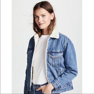 Levi's Sherpa Denim Jacket Coat Women's Small
